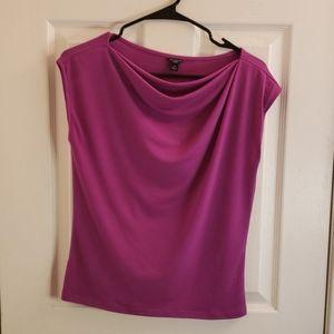 Ann Taylor Cowl Neck Blouse Purple SP